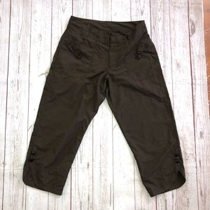 REI Capris hiking pants size 4 brown